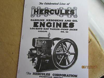 Hercules Corp Gasoline Kero Oil Engines Catalog 26 Hit Miss Engine Catalog