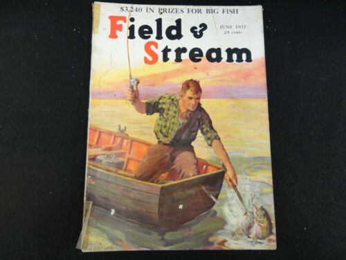 Field and Stream Magazine June 1932 Vintage Issue- Free Shipping!