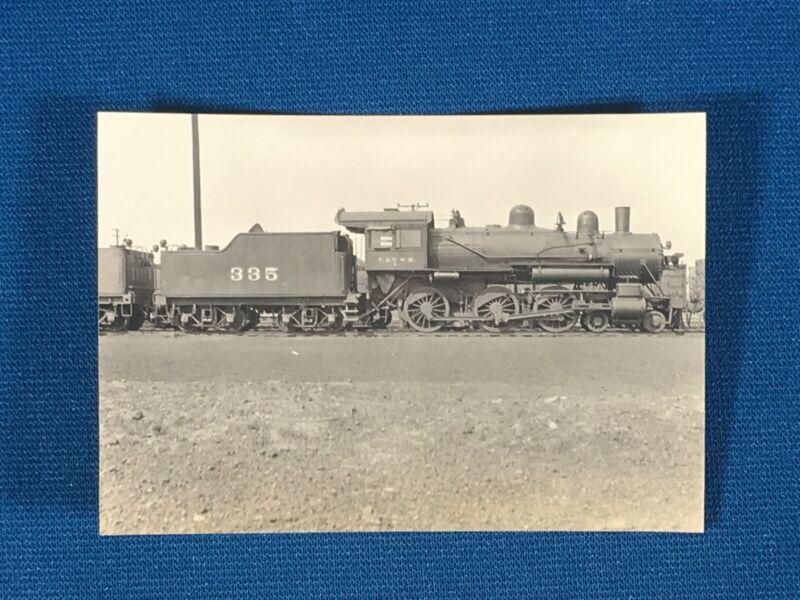 Chicago & North Western Railway Train Engine Locomotive No. 335 Antique Photo