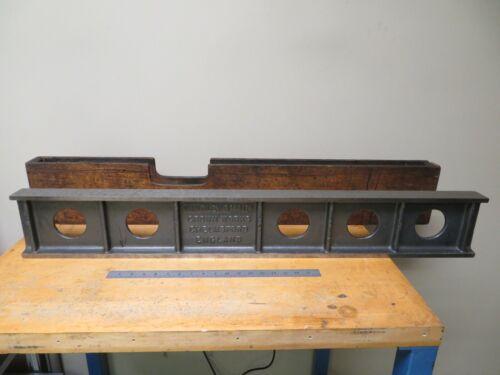 "Windley Bros Crown Works 42x6x2"" Camelback Straight Edge Half Moon Scraped NT59"