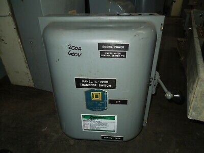 Square D 82344 200a 3p 600v Ac Double Throw Non-fusible Manual Transfer Switch