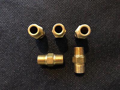 5 Brass Hex Nipple 14 Male Npt X 14 Male Npt Fitting Fueloilgaswater