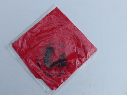 """1971 13th World Boy Scout Jamboree """"I Was There"""" Red Souvenir Neckerchief Chief"""