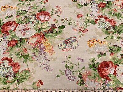 LISMORE GARDEN MULTI COVINGTON Floral Cotton Upholstery Drapery Print Fabric