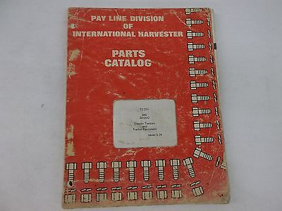 International Harvester 500 Series C Crawler Tractor Parts Catalog