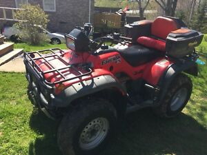 2003 Honda Forman, plow, and 4x8 trailer.