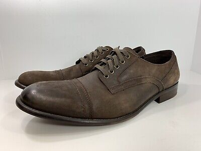 Kenneth Cole New York NY Fair Game Brown Leather Cap Toe Oxfords Shoes Mens 13 M