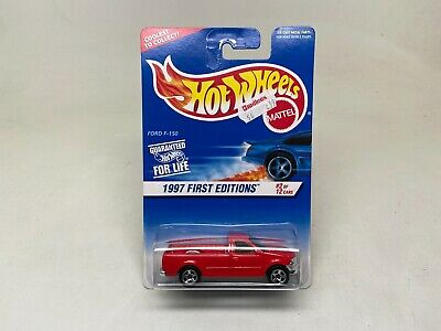 HOT WHEELS-FORD F150 PICK UP RED-1997-FIRST EDITIONS-(#2 OF 12)SEALED ON CARD