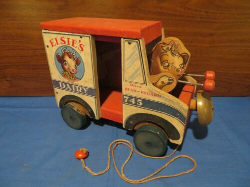 Rare Old Vintage Original Fisher Price Elsie