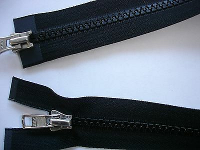 RV 347 Reißverschluß ykk schwarz 46cm, teilbar als 2-Wege-RV 1 Stück