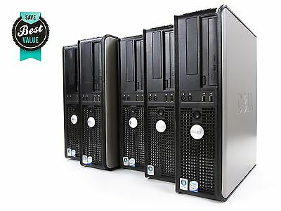 Lot of 5 DELL Optiplex 755 Desktop Computer Intel® Core™ 2 DUO 2GB RAM 160GB HDD