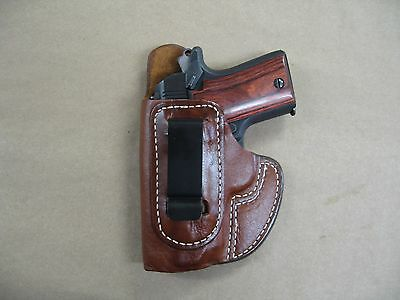 Sig Sauer 938  P938 9Mm Iwb Molded Leather Concealed Carry Holster Ccw Tan Lh