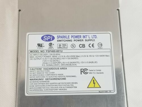 SPI Sparkle FSP460-601U 460 Watt Power Supply