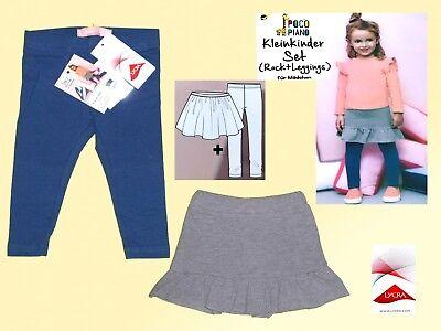 Mädchen Rock Kleinkind-shirt (Mädchen Set Kombination Rock & Leggings Kleinkind Shirtrock mit Hose Gr. 74-98)