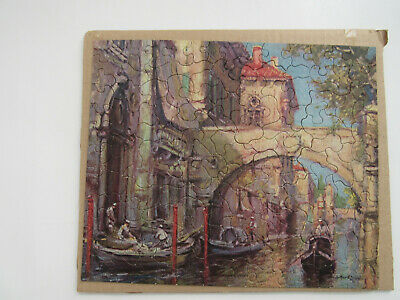 "Vintage LUX SOAP 150 pc Jig-Saw Puzzle THE ""NOONTIME VENICE"" with envelope"