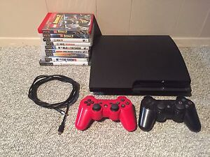 PS3 with 9 Games & 2 Remotes