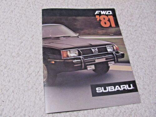 1981 SUBARU (USA) SALES BROCHURE..