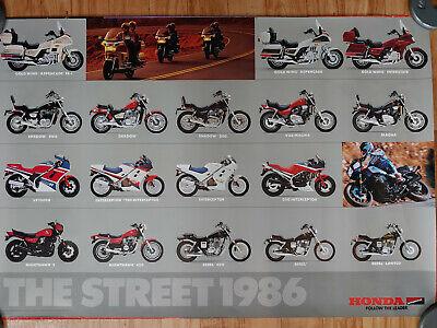 "VTG 1986 HONDA ""THE STREET"" MOTORCYCLE ADVERTISEMENT POSTER"