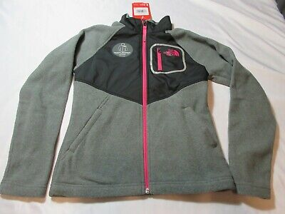 NWT North Face Girls Full Zip Fleece Glacier Track Jacket Coat Size Medium 10/12 North Face Glacier Track