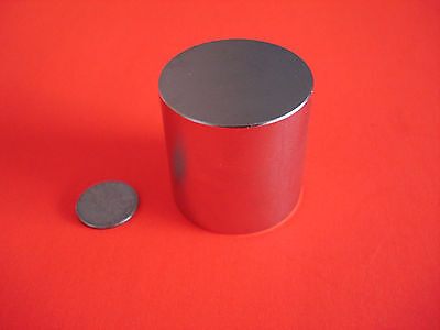 """Used, 2 Powerful Grade N42 1x1"""" Inch Rare Earth Neodymium Cylinder Magnets for sale  Plano"""
