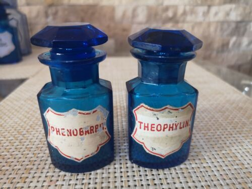 Apothecary bottle cobalt TWO