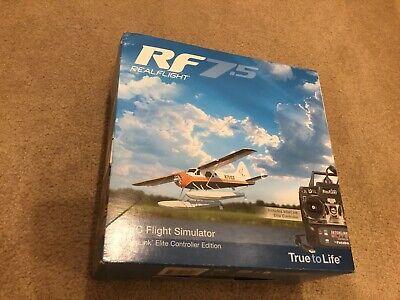 RF 7.5 REAL FLIGHT  R/C FLIGHT SIMULATOR INTERLINK ELITE CONTROLLER FUTABA RF7.5