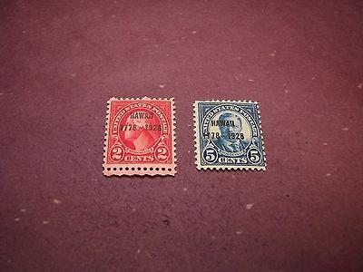 US Stamp Scott# 647-648 Hawaii Overprints 1928  MNH    C301