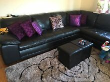 L shape leather lounge Greenacre Bankstown Area Preview