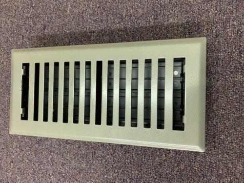 """accord ventilation 4""""x10"""" steel floor register Brushed N"""