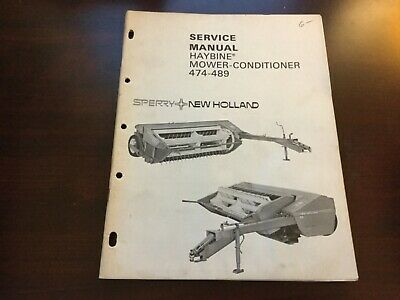New Holland 474-489 Haybine Mower Conditioner Service Manual