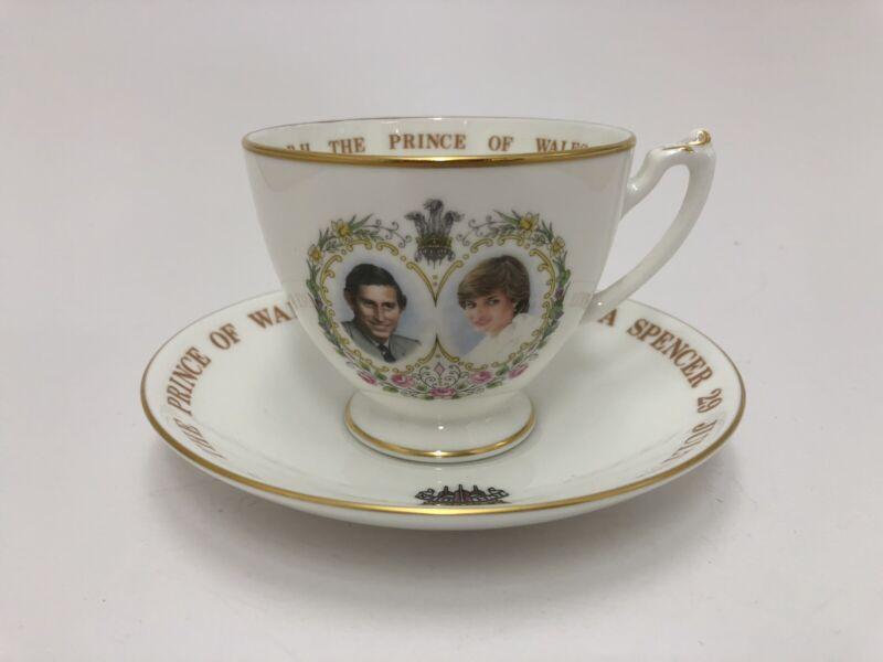 Vintage HRH The Prince Of Wales & Lady Diana Spencer Teacup & Saucer