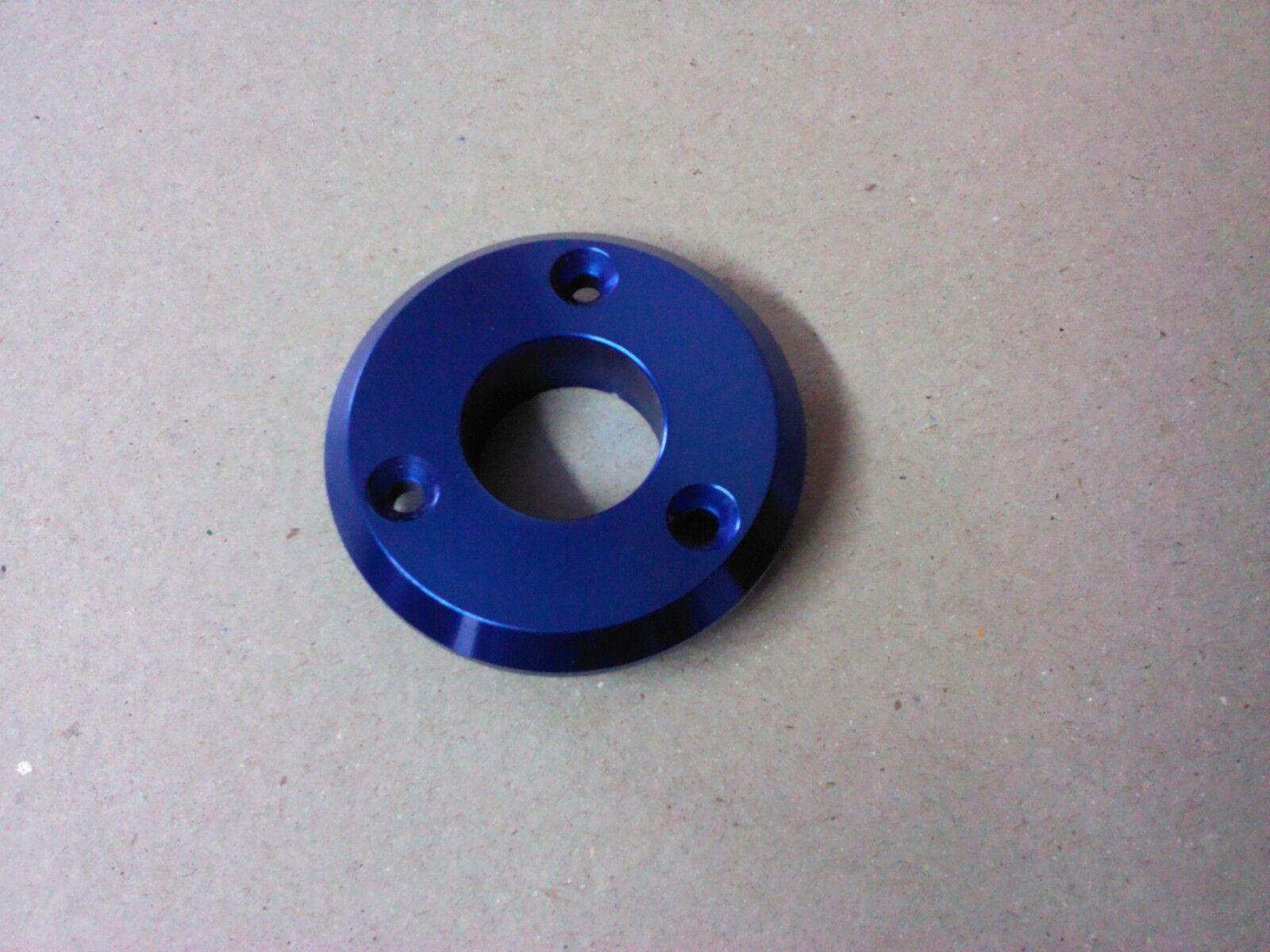 "Blue Aluminum Bezel 3 Hole Hot Rod  3/4"" ID 2"" OD"