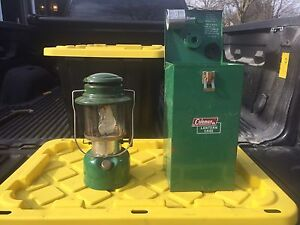 Coleman lantern and case