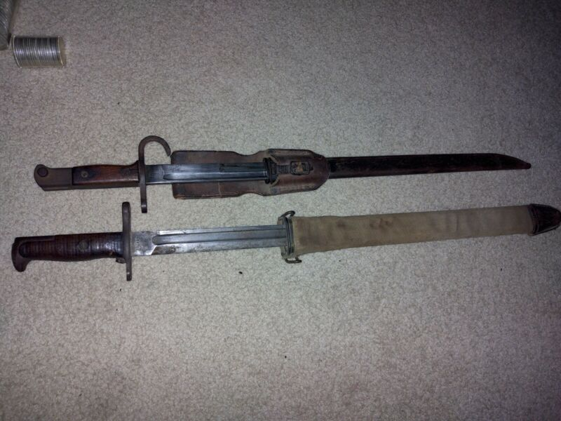 Ww1ww2 Japanese Us 1917 Bayonets