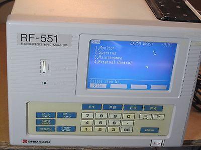 Shimadzu Rf-551 Scanning Fluorescence Monitor