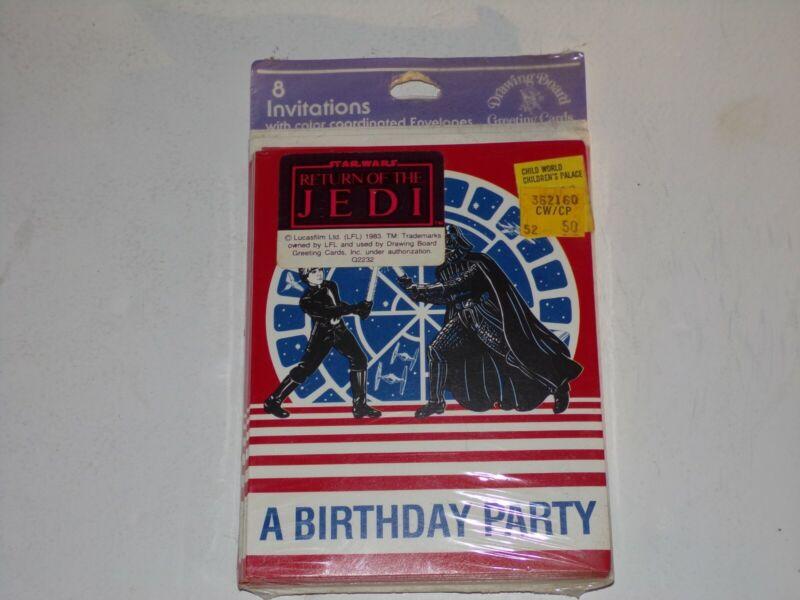 Vintage 1983 Star Wars Return Of The Jedi Birthday Party Invitations Sealed MISP
