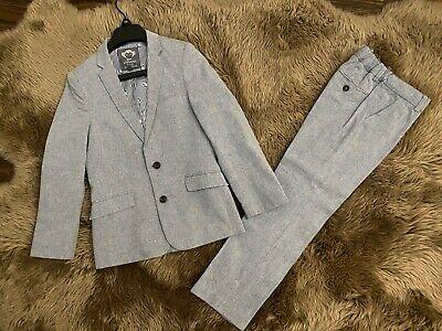 APPAMAN BOYS DESIGNER GRAY BLUE 2 PC DRESS SUIT JACKET & PANTS SIZE 10Y RRP$165 Boys Designer Suit