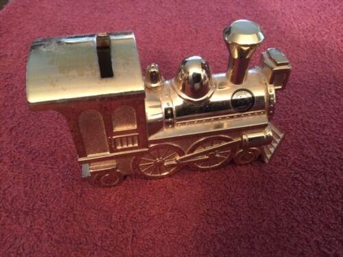 Gold Color Metal Train Engine Bank