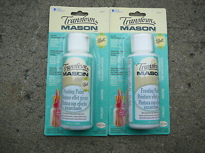Frosting Paint 4 oz, Glass, Title, Ceramic Frost Paint, Double Pack 8 oz Total (Frosted Glass Paint)