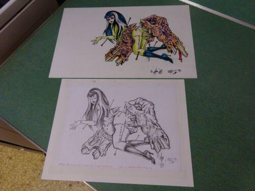 """VOODOO VAMP"" 1 OF KIND  ORIGINAL ART BY JOHNNY ACE RAT FINK ED BIG DADDY ROTH"