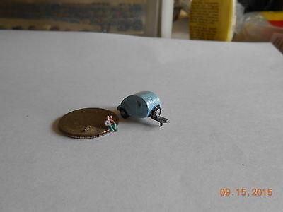 Z SCALE light blue TEARDROP TRAILER VEHICLE CASTMETAL FOR TRAIN LAYOUT