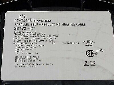 Nvent Raychem 3btv2-ct Self-regulating Heating Cable 3 Wattsft 200-277v 1ft