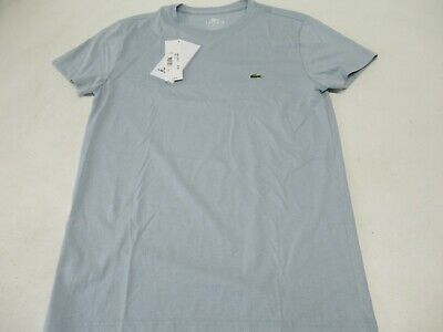 NWT MEN'S LACOSTE 100% PIMA COTTON SS TENNIS CREW (LT. SLATE BLUE) TH5275. $50
