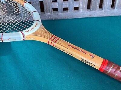 Vtg DUAL GRAND SLAM WINNER South Africa Dunlop Maxply Fort Wood Tennis Racquet - $300.00