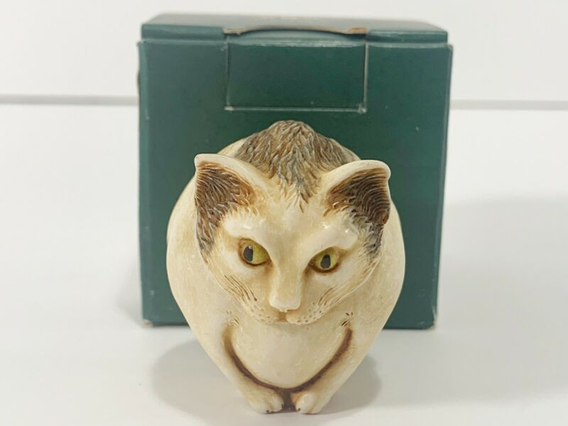 Harmony Kingdom Roly Poly Hitchcock W/ Box Cat Figure