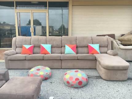 DELIVERY TODAY BIG COMFORTABLE L shape corner sofa QUICK SALE