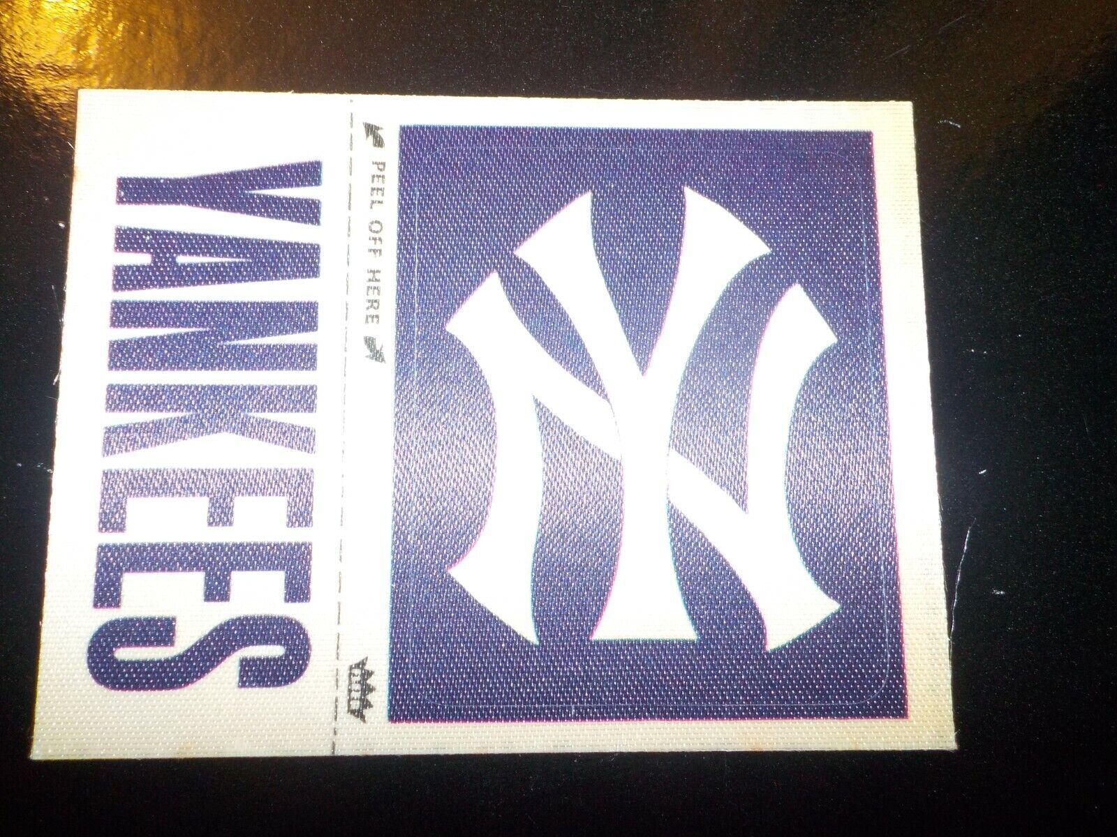RARE 1977 FLEER NEW YORK YANKEES NY Cap YANKEES Team Name REAL CLOTH Patches  - $1.25