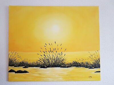 Gemälde Sonnenuntergang