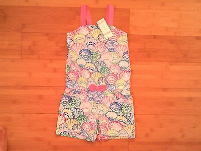 Nwt Gymboree Girls Size 7 Tide Pool Shell Print Knit Shorts Romper Outfit New