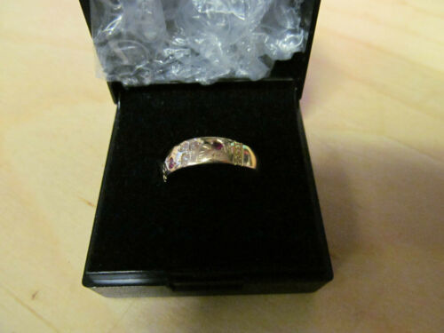 ANTIQUE EDWARDIAN 15CT GOLD RUBY & SEED PEARL RING